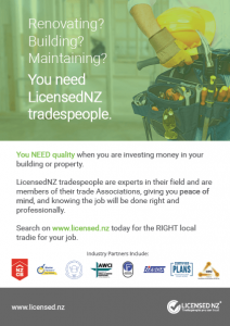 Why use LicensedNZ tradespeople?