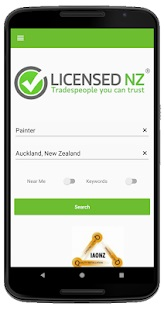 Screenshot of new LicensedNZ app